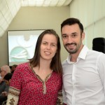 Mayra Jacob, da Almundo, e Rafael Monteiro, da CNT Operadora