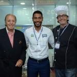 Michel Tuma Ness e Alexandre Tuma Ness, com Juliano Braga, do M&E