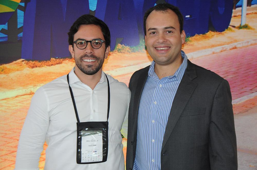 Milton Vasconcelos, presidente da ABIH-AL, e Jair Galvão, secretário de Turismo de Maceió