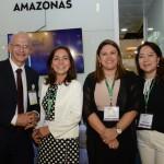 Orlando Câmara, Roselene Medeiros, Ana Claudia Silva e Claudia Silveira, da Amazonastur