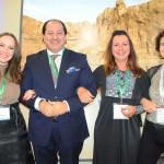 Patrícia Bastos, da Bastour, com Ashraf Safel, Monica Miotto, do Galaxia Group, e Silvia Sá , da Tablet Tours