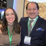 Patrícia Bastos, da Bastour, e Ashraf Safei, dos Emirados Árabes Unidos