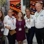 Patricia Palacios, do Ministério do Turismo do Equador, Rosa Masgrau, do M&E, Rosy Prado de Holguín, Ministra do Turismo do Equador, Mari Masgrau e Roy Taylor, do M&E