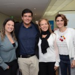 Priscila Perasolo e Dante Campos, da Braztoa, Paula Fariña e Natalia Pisoni, da Inprotur