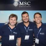Rafael Sacomani, Marcio Genaro e Ivan Mauro, da MSC Cruzeiros