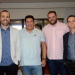 Raphael Magalhães, da Visual Turismo, Carlos Francisco, da Personal Travel, José Ricardo, da J3 Viagens, e Eliseu Thomae, da Visual