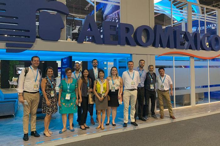 Reunião com o representante de Aeromexico Paul Verhagen, Senior VP Vendas Internacionais