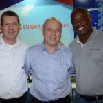 Ricardo Astorino, da GTA, Francisco Lopes, da GP Hotéis, e Esequiel Santos, da Trend