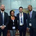 Ricardo Guimaraes e Beza Melis, da Embaixada da Ethiopia, Raphael de Lucca e Girum Abebe, da Ethiopian Airlines