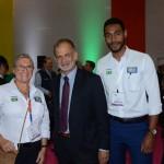 Rosa Masgrau e Juliano Braga, do M&E, com Ricardo Fazzini, secretário de Turismo de Ilhabela