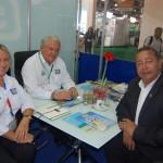 Rosa Masgrau e Roy Taylor, do M&E, com Tom Lyra, presidente da Agência de Turismo do Tocantins
