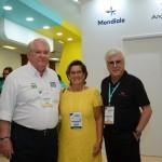 Roy Taylor, do M&E, Inês Bellini, do Visite Santos, e Juarez Cintra Filho, da Ancoradouro