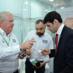 Roy Taylor e Anderson Masetto, do M&E com o ministro Marcelo Álvaro Antônio