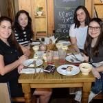 Samantha Machado, da Nova Operadora, Erika Matsuno, da Queensberry, Marina Guimarães, da Agaxtur, e Ana Clara Barra, da TGK