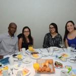 Sidnei Silva, da Trade Tours, Priscila Alencar, da CVC Corp, Mirtes Costa, da Durr Brasil, e Barbara Gomes, da Visual Turismo
