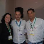 Silvia Luise Hackmann da Ezlink Hotels Online, Tadeu Leal da FRT Operadora e Rodrigo Morales da Ezlink Hotels