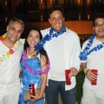 Thaís Ferro, do Iloa Resort, com Rodney Rocha e Woody Garcia, da Schultz