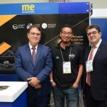 Vinicius Lummertz, secretário de Turismo de SP, MArcel Ito, da Shift, e Marcos LUcas, presidente da Aviesp