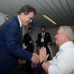 Vinicius Lummertz, secretario de Turismo de SP, e Roy Taylor, do M&E