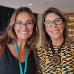 Virginia Miceli (Trust Intercâmbio Atibaia) e Claudia Sólido (Emirates)