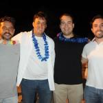 Vitor Alvim, secretário de Marechal Deodoro, Irenio Junior, do Iloa Resort, Jair Galvão, secretário de Maceió, e Milton Vasconcelos, presidente da ABIH-AL
