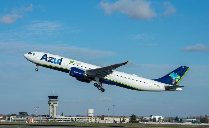 Azul utilizou o Airbus A330, maior avião da sua frota, para transportar o equipamento