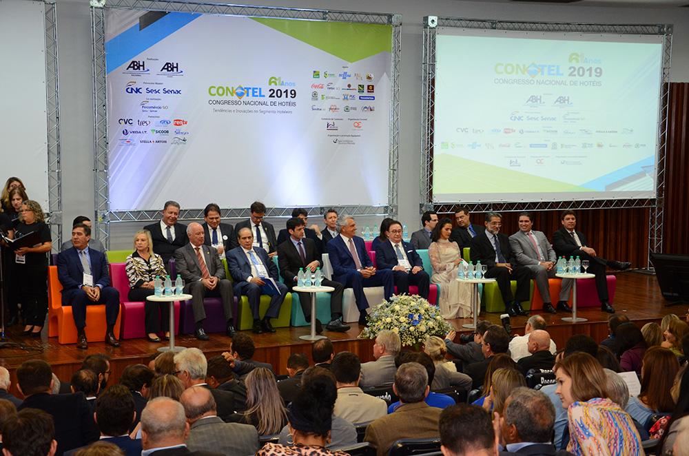 Abertura do Conotel 2019 no Centro de Convenções Goiânia