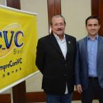 Albérico Filho, prefeito de Barreirinhas, e Rogerio Mendes, da CVC