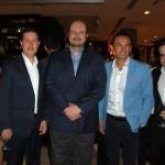 André Sena, CDO da Accor, Daniel Bicudo e Alex Malfitani da Azul, Patrick Mendes e Flavio Gordiano, CEO e Head de Loyalty da Accor, respectivamente