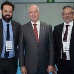 Daniel Nepomuceno, do MTur, Herculano Passos, da Frentur, e Bob Santos, do MTur