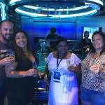 Daniel Santiago, da Recriar Turismo, Erica Bruno, da JE&P, Daniela Matos, da Vai pra onde, e Marilia Oliveira, da Itapoã Viagens