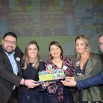 Diego Ortega, Paula Rorato , Andressa Raymundo, Paula Souza e Fernando B. Del Cistia receberam o prêmio de Campeão Geral de Vendas pela CVC Viagens