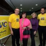 Douglas Silva e Vitor Mascarenhas, da CVC, com Vera Regina e Cassia Regina Saponara, da Sky Sea Travel
