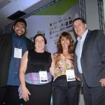 Edu Costa, da Linkedyou Consultoria, Shirley Salazar, da Mestres da Hospitalidade, Cristina Cintrão, da Improve Human, e Ricardo Aly, da RA Marketing Estrategico