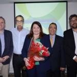 Frederico Levy, da Interpoint, José Zuquim, da Ambiental, Magda Nassar, Roberto Silva, da Sanchat, e Roberto Nedelciu, da Raidho e presidente da Braztoa, conselho que presidu a entidade nos últimos quatro anos.