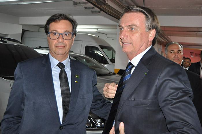Gilson Machado Neto recebe o presidente jair Bolsonaro em sua posse