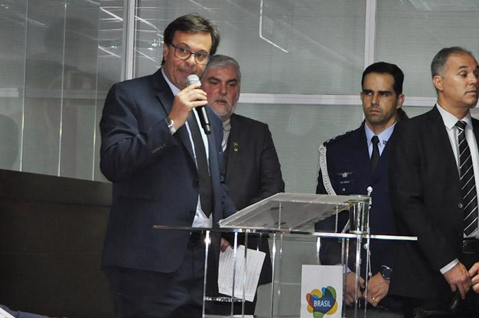 Promoção em feiras, escritórios de turismo e transformação em agência fizeram parte do discurso de Gilson Machado em sua cerimônia de posse.
