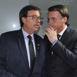 Gilson Machado e Jair Bolsonaro, juntos antes do início da cerimônia de posse