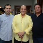 Guilherme Marque, da ABAV-MA, Geraldo Rocha, presidente da Abav Nacional, e Airton Abreu, do Maranhão