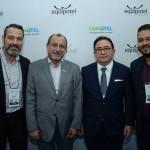 Guilherme Sanson, da ABIH-MG, Toni Sando, do Visite SP, Manoel Linhares, presidente da ABIH Nacional, e Jair Aguiar Neto, do Belo Horizonte CVB