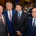 Herculano Passos, da Frentur, Ronaldo Caiado, governador de Goiás, Marcelo Álvaro, ministro do Turismo, e Manoel Linhares, presidente da ABIH Nacional