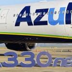 Homenagem na chegada do primeiro A330neo das Américas