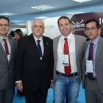 Jack Abboudi, da ABIH-MT, Dilson Jatahy, do Catussaba Hotel, Arthur Maroja, da ABIH-PE, e Jose Rodrigues Junior, da ABIH-RN