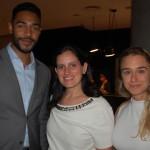 Juliano Braga do M&E, com Roberta Vernaglia e Fernanda Zupo, da Accor