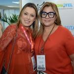 Kennya Oliveira, da Elo Eventos, e Simara Brom, da Góias Turismo