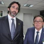 Lucas Fiuza, da Brasil Real, com Manoel Linhares, presidente da ABIH