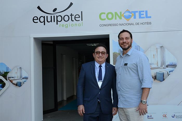 Manoel Linhares, presidente da ABIH Nacional, e Gustavo Binardi, da Equipotel