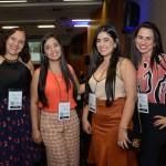 Margareth Serpa, da Caixa Beneficente, Lucília Oliveira, Valéria Melquiades e Vaneza do Carmo, do Hotel Águas do Paranoá