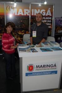 Marlei Cardoso e Luiz Fernando Neves Alves, da Prefetura de Maringá