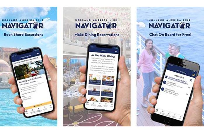 App permite que os hóspedes personalizem seus cruzeiros, reservem serviços e conversem enquanto navegam ou visitam portos